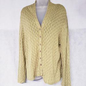 J. Jill Button Down Silk Blend Sweater Cardigan